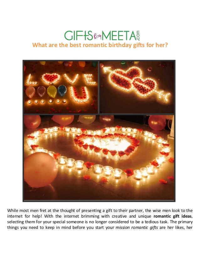 Romantic Birthday Gift Ideas Her  Best Romantic Birthday Gifts for Her