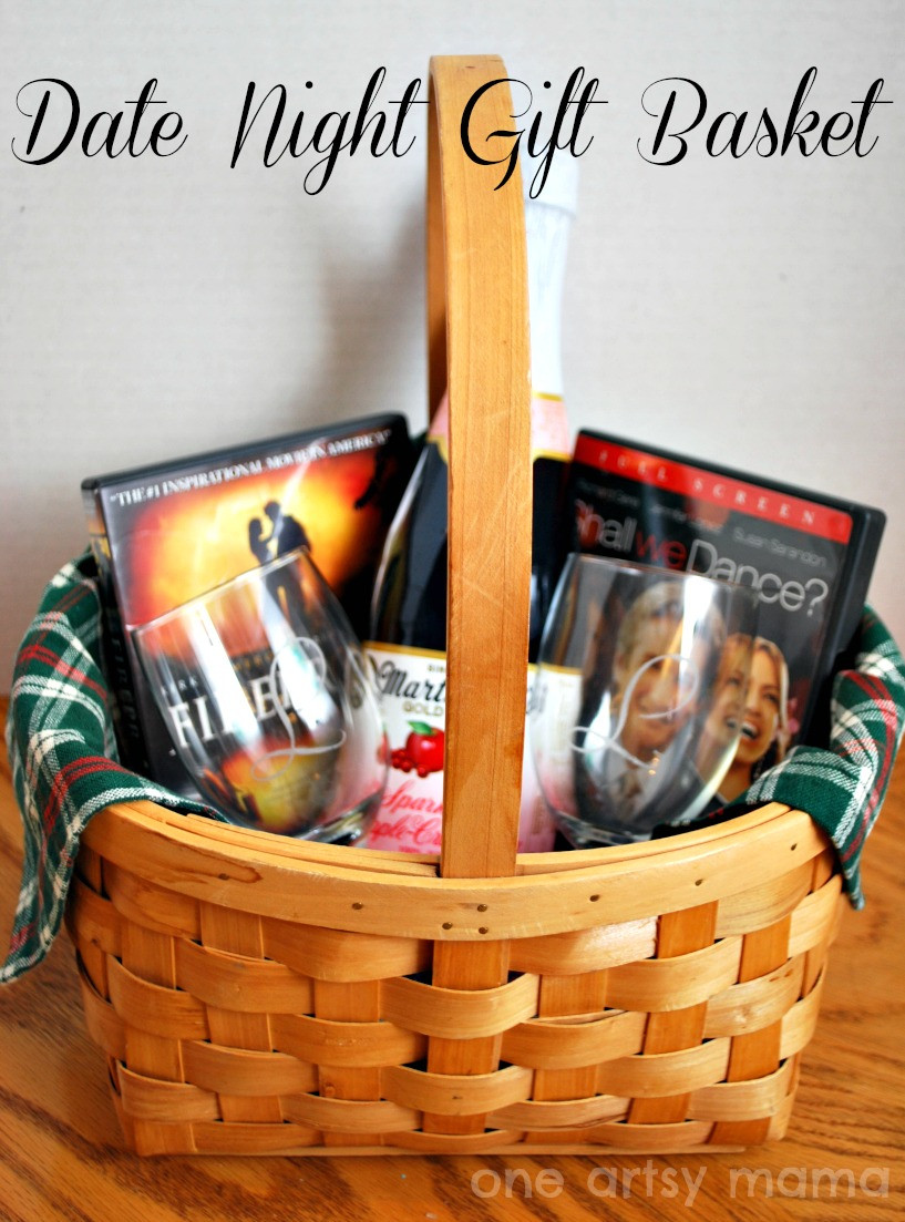 Best ideas about Romantic Gift Basket Ideas For Couples . Save or Pin Monogrammed Wine Glasses Date Basket Gift Amy Latta Now.