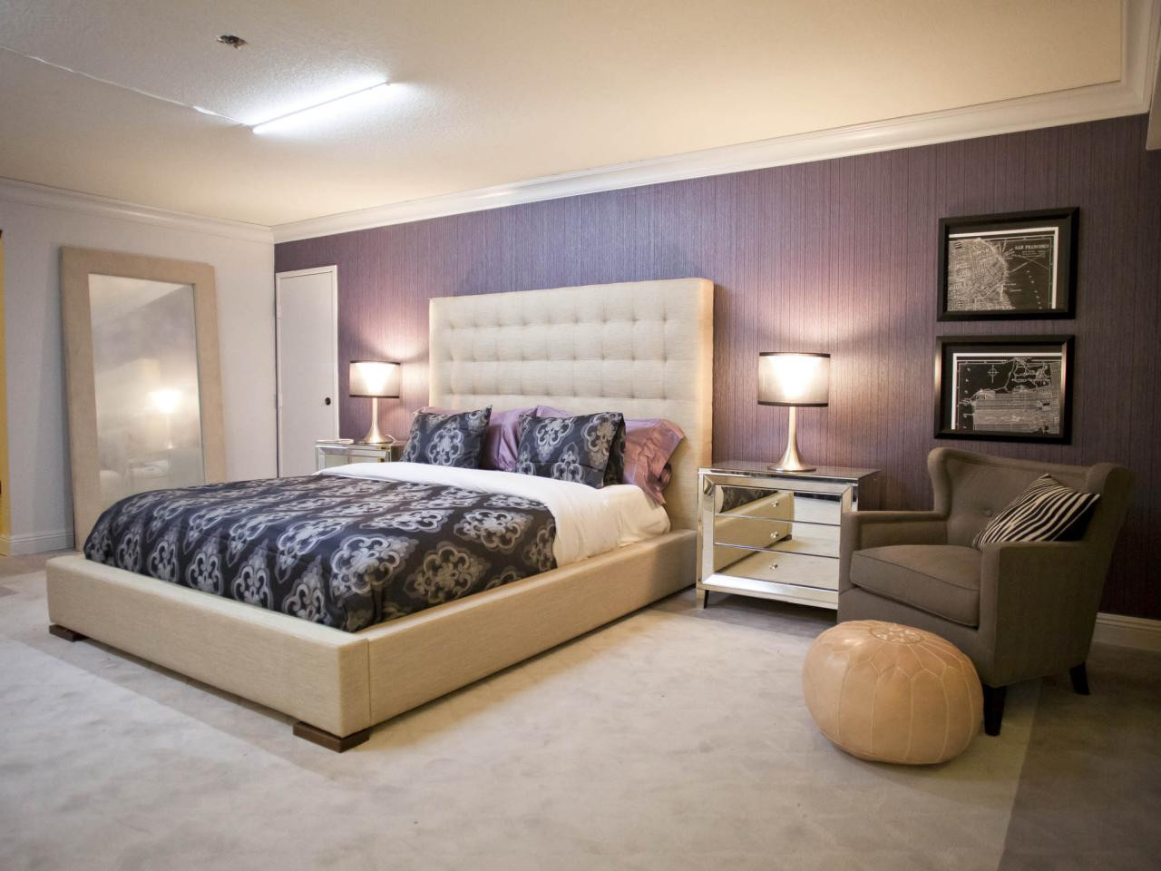 Best ideas about Rooms With Accent Walls . Save or Pin 20 Beautiful Purple Accent Wall Ideas Now.
