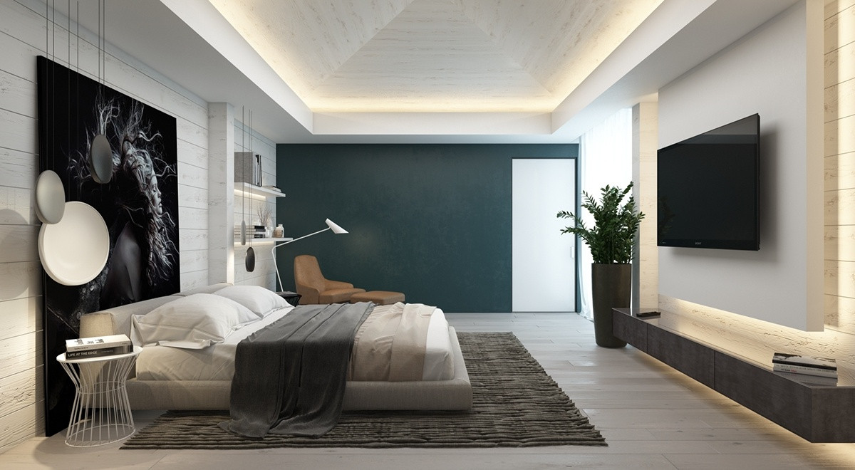 Best ideas about Rooms With Accent Walls . Save or Pin 7 Bedrooms With Brilliant Accent Walls Now.