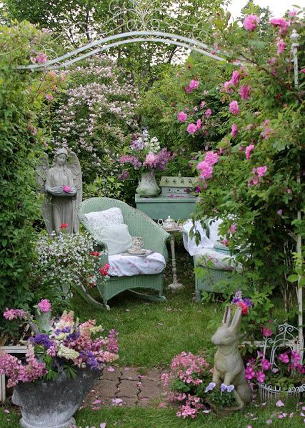 Best ideas about Rose Garden Ideas . Save or Pin 17 Shabby Chic Garden For Romantic Feel Now.