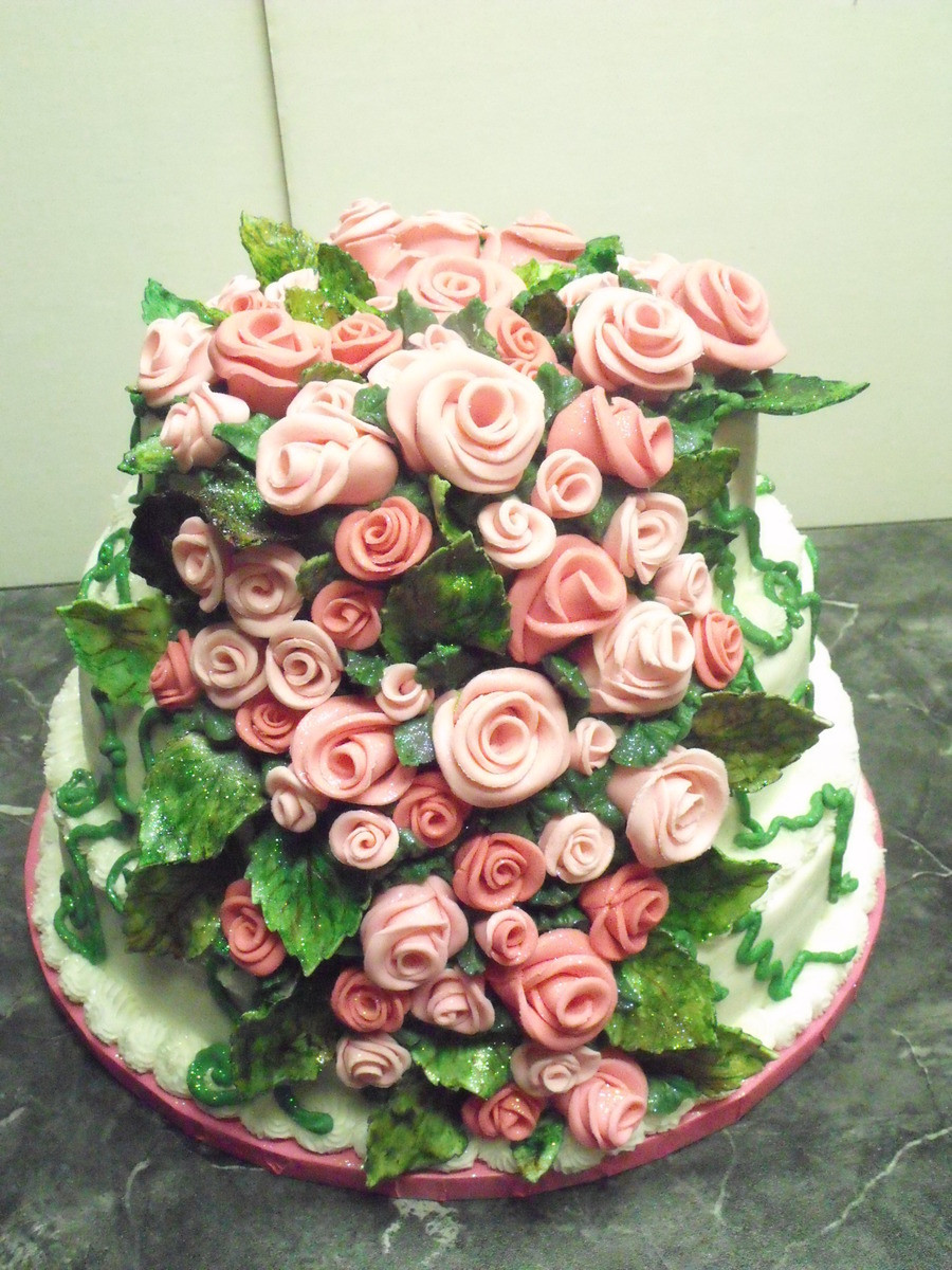 Best ideas about Roses Birthday Cake . Save or Pin 65 Fondant Rose Birthday Cake CakeCentral Now.