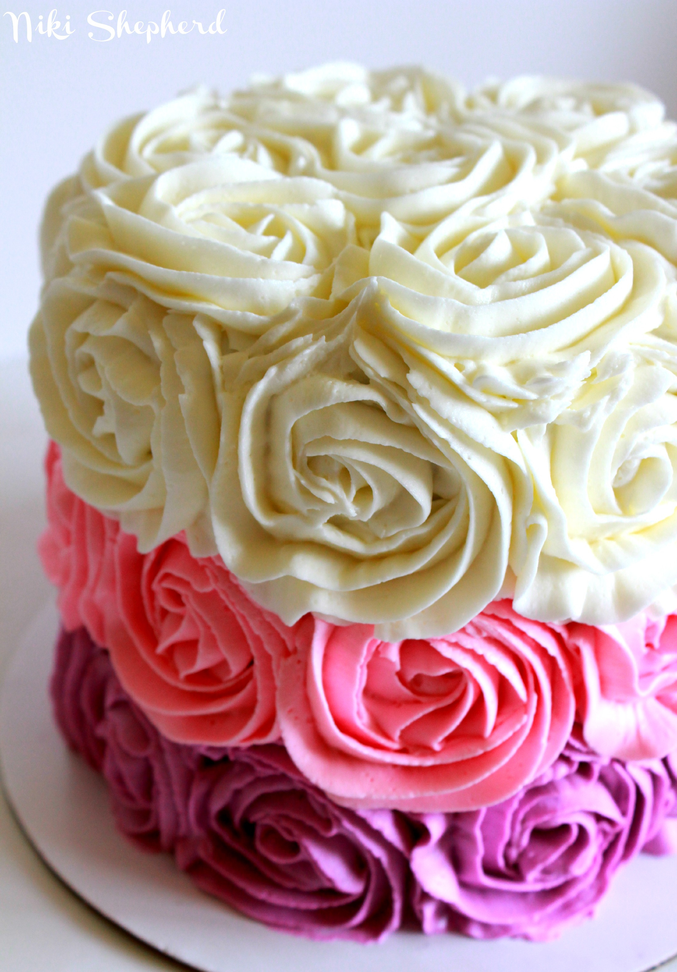 Best ideas about Roses Birthday Cake . Save or Pin My take on i am baker's Rose Cake Now.