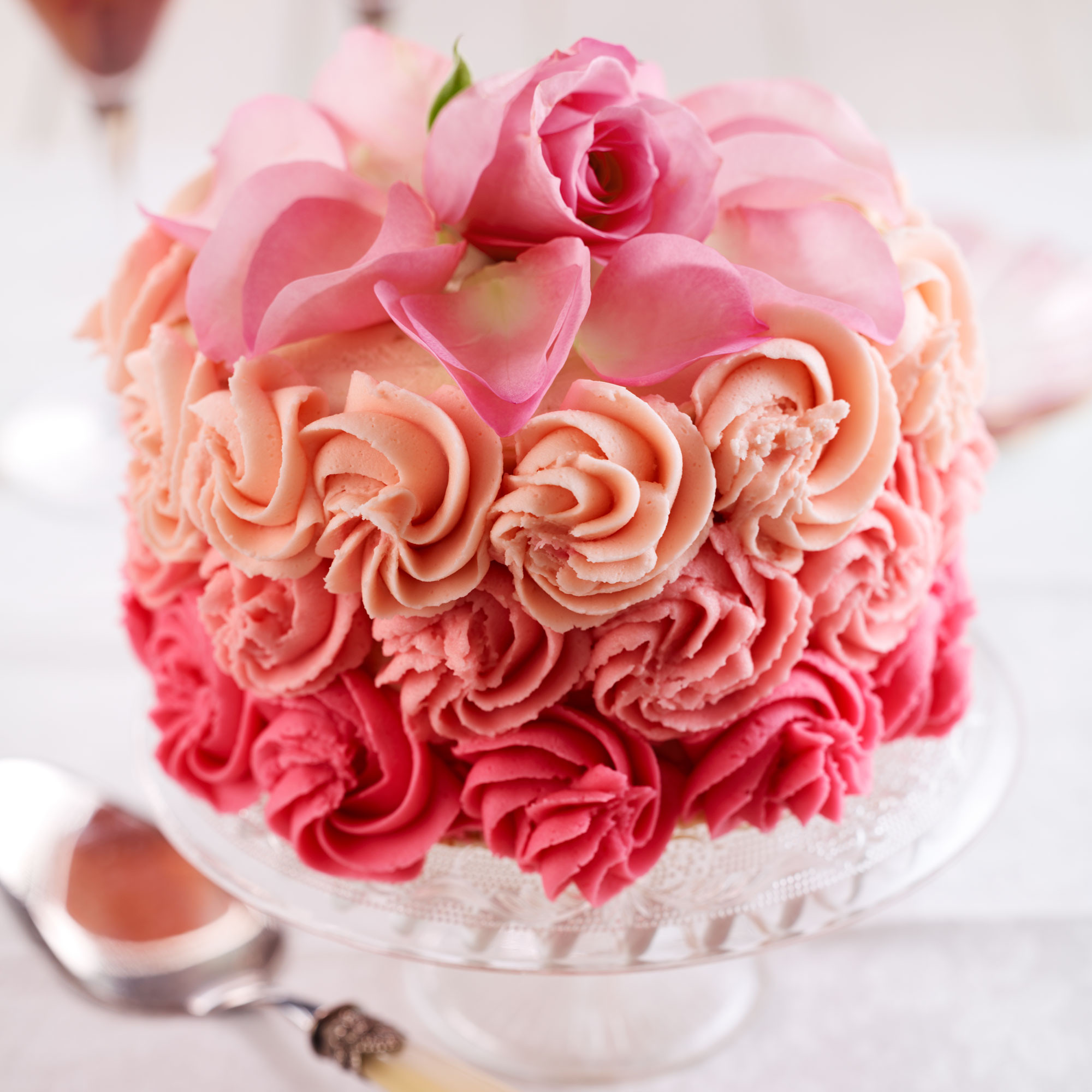 Best ideas about Roses Birthday Cake . Save or Pin Rose Petal Cake Woman And Home Now.