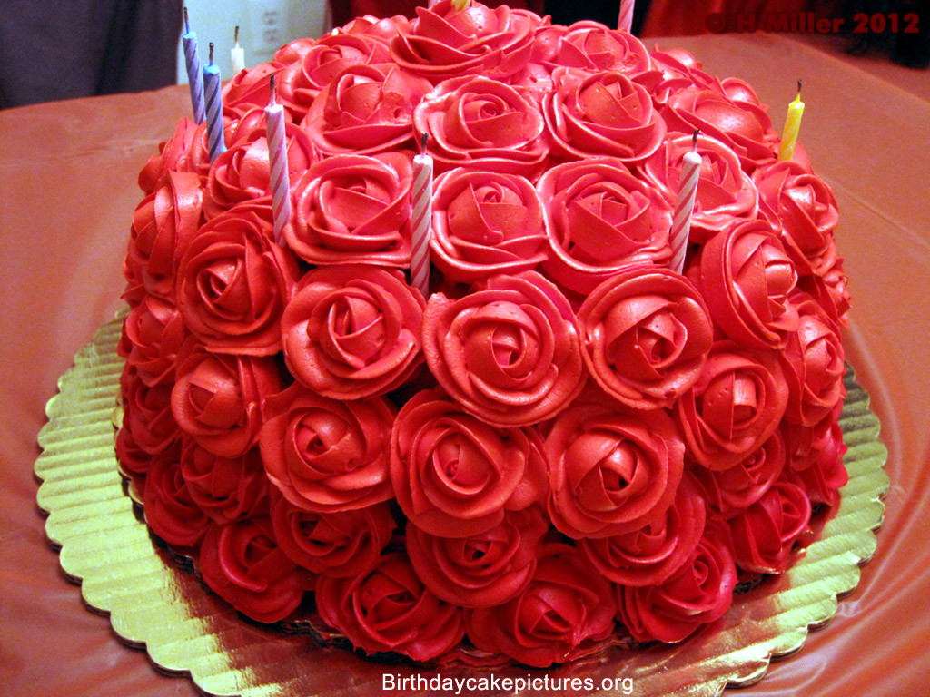Best ideas about Roses Birthday Cake . Save or Pin Chocolate Birthday Cake With Flowers Now.