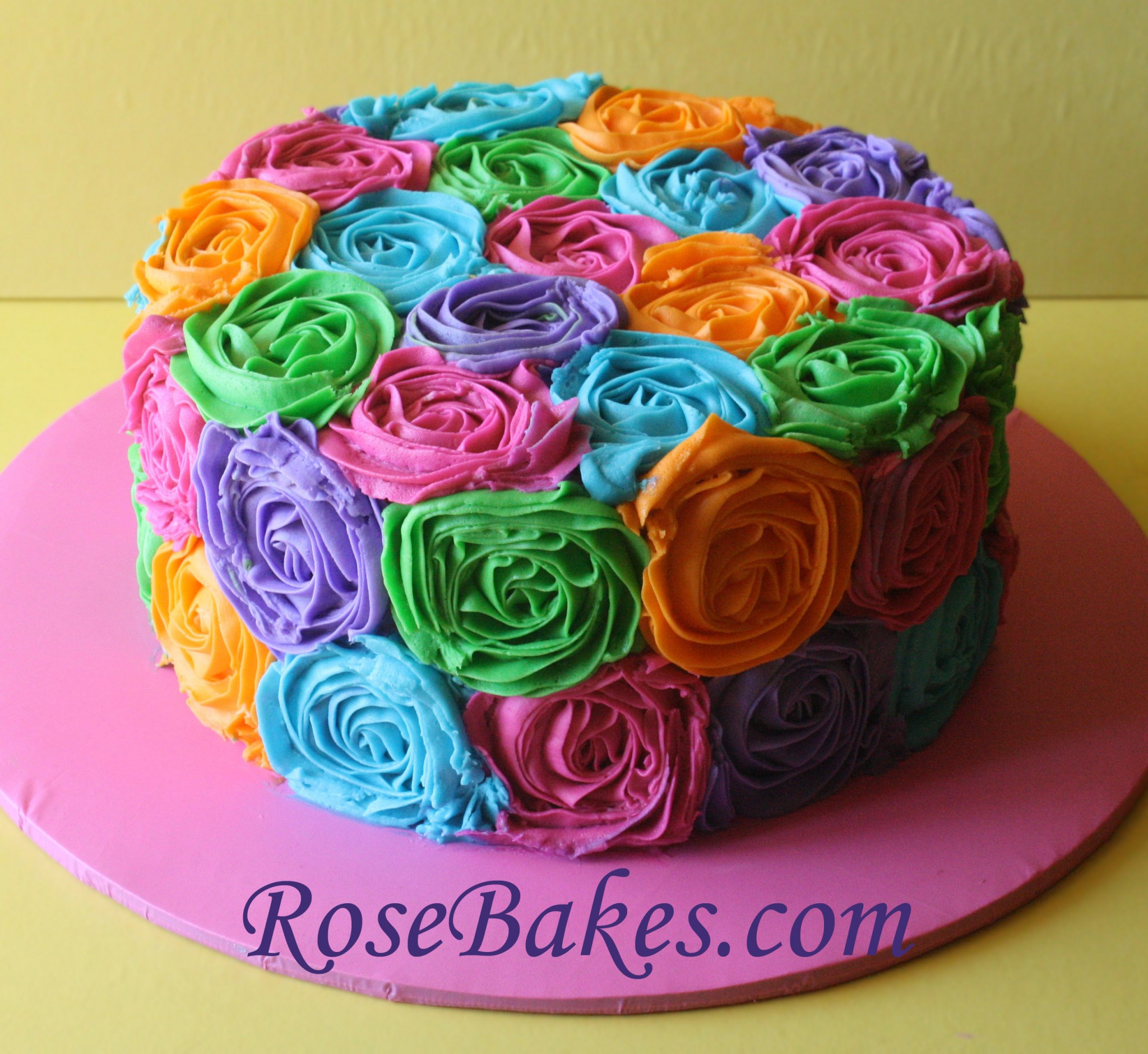 Best ideas about Roses Birthday Cake . Save or Pin Bright Buttercream Roses Birthday Cake Now.