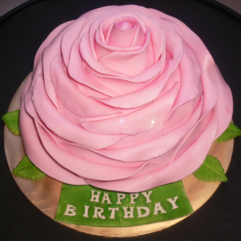 Best ideas about Roses Birthday Cake . Save or Pin Birthday Cake Buttercream With Ribbon And Gumpaste Rose Now.