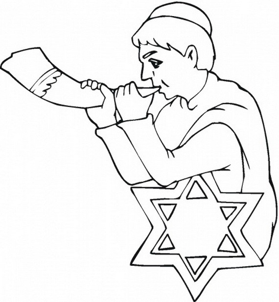 Rosh Hashanah Coloring Pages  Rosh Hashanah Coloring Pages for Kids family holiday