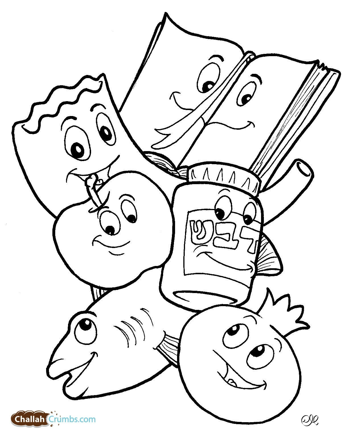 Rosh Hashanah Coloring Pages  14 printable pictures of rosh hashanah page Print Color