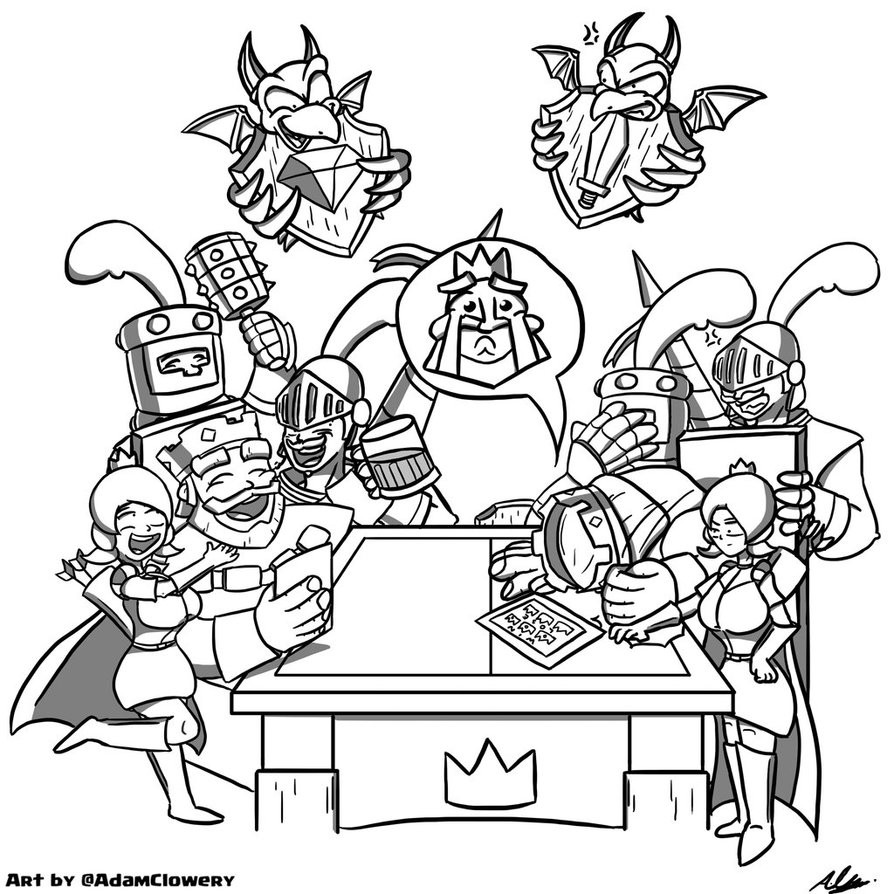 Royal Coloring Pages  Coloring Pages Clash Royale Clash Royale Coloring Pages