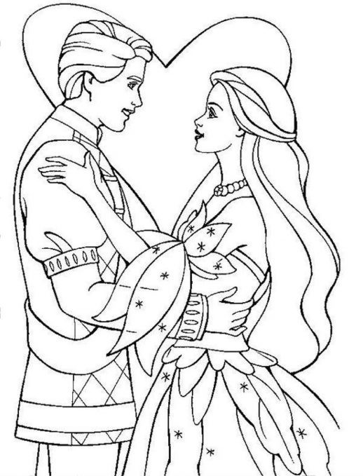 Royal Coloring Pages  Classical Wedding Prince And Princess Coloring Pages