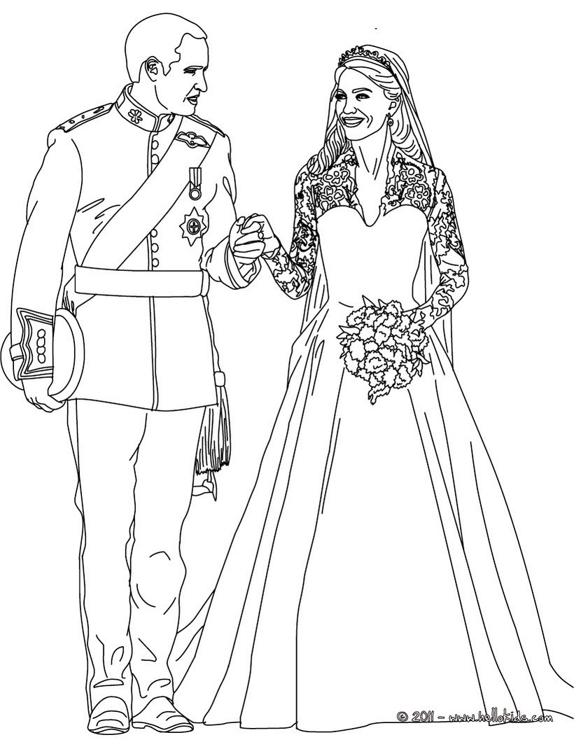 Royal Coloring Pages  The royal wedding coloring pages Hellokids