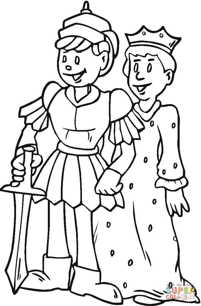 Royal Coloring Pages  Royal Family coloring page