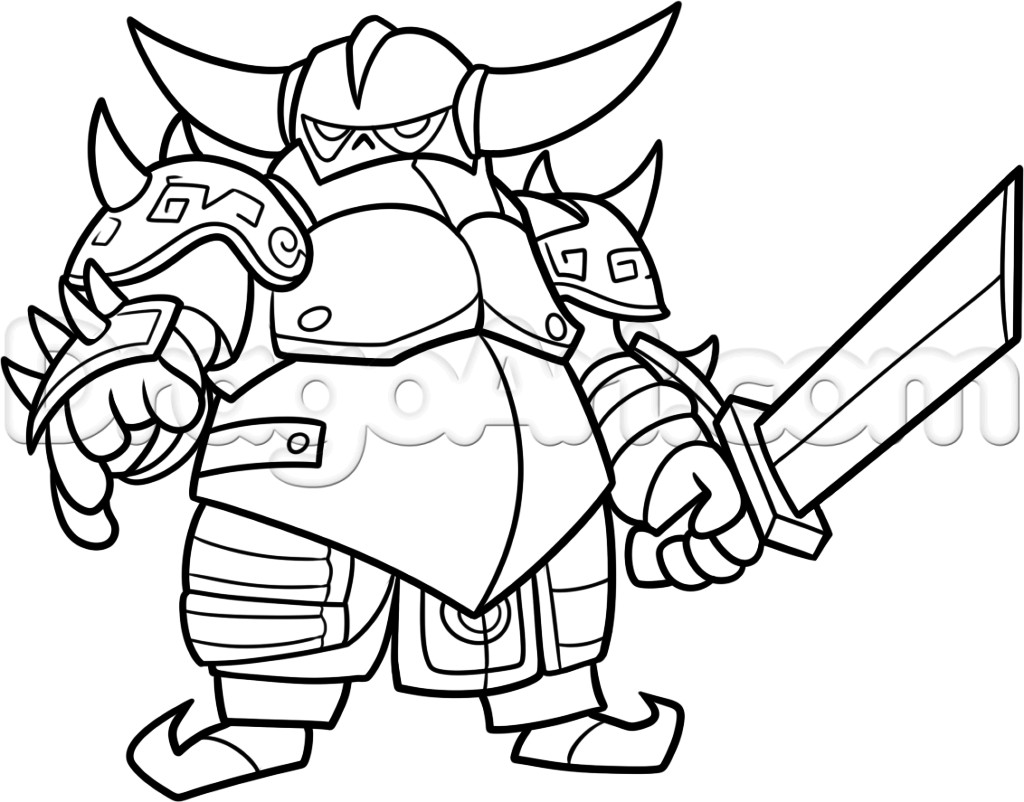 Royal Coloring Pages  Clash Clans How To Draw Royale Coloring Pages Pinterest