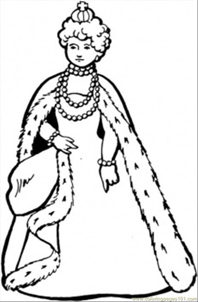 Royal Coloring Pages  Great Queen Coloring Page Free Royal Family Coloring