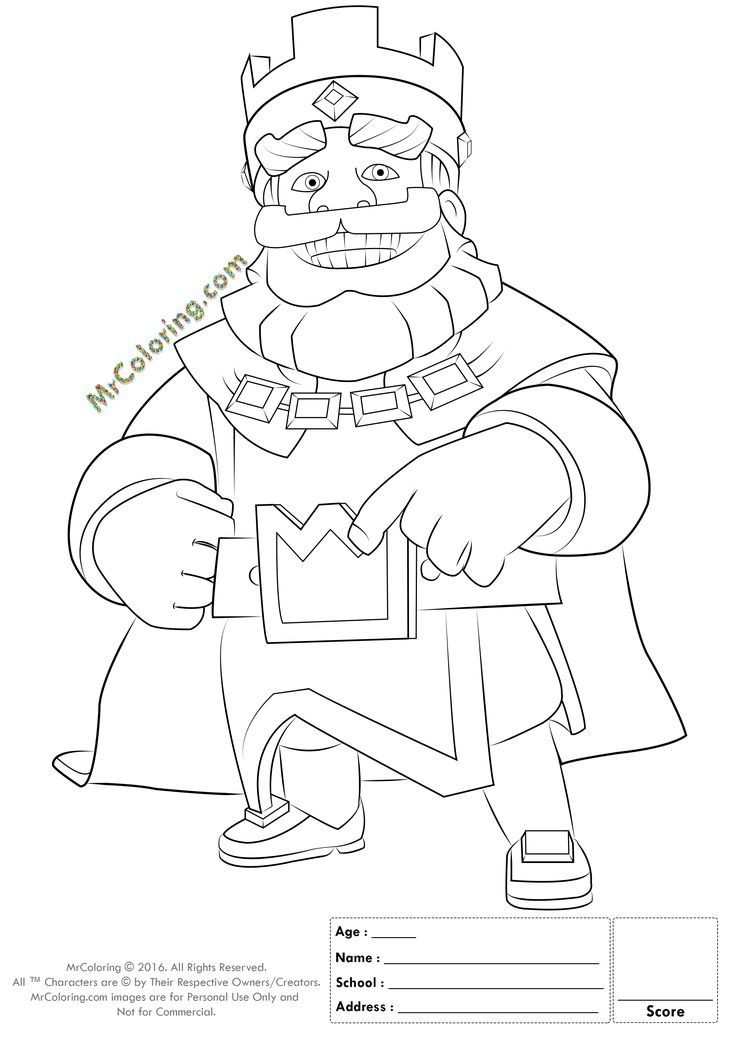 Royal Coloring Pages  17 Best images about Clash Royal cake on Pinterest