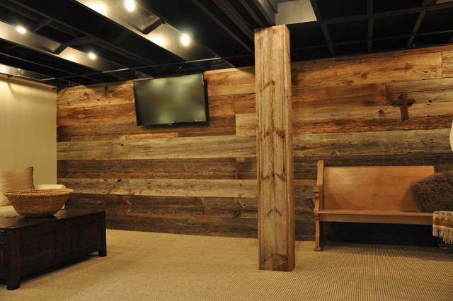Best ideas about Rustic Basement Ideas . Save or Pin Modern and Rustic Rustic Basement Chicago by Now.