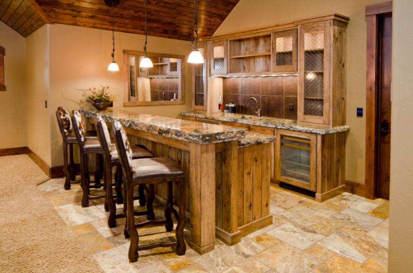 Best ideas about Rustic Basement Ideas . Save or Pin 34 Awesome Basement Bar Ideas and How To Make It With Low Now.