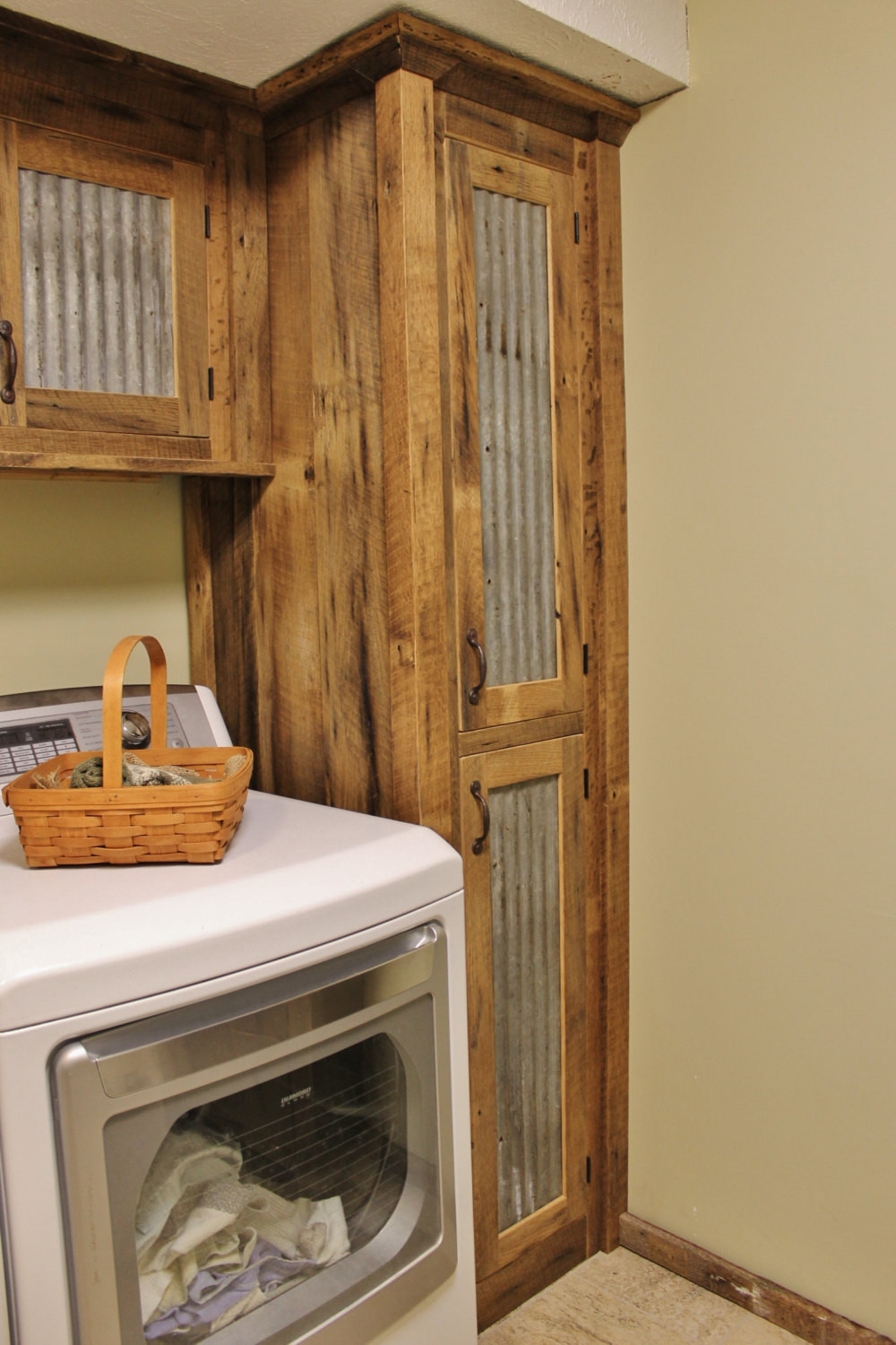 Best ideas about Rustic Cabinets DIY . Save or Pin Rustic Tall Storage Reclaimed Barn Wood Cabinet w Tin Doors Now.