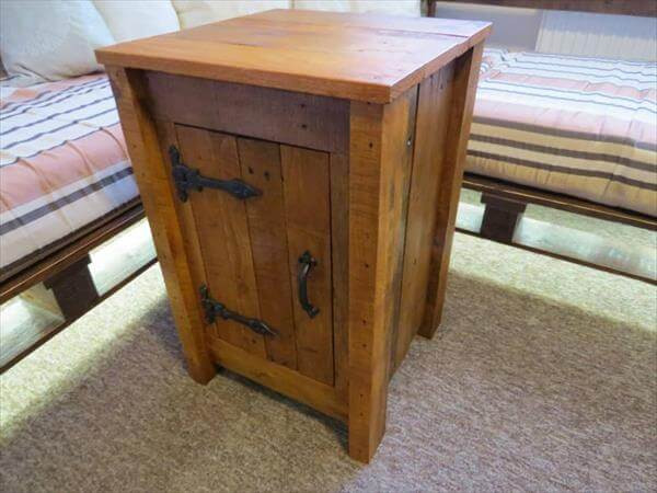 Best ideas about Rustic Cabinets DIY . Save or Pin DIY Rustic Styled Pallet Floor Cabinet Now.