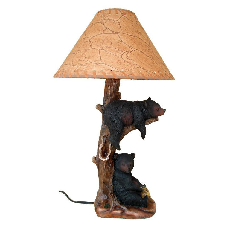 Best ideas about Rustic Desk Lamp . Save or Pin Western Black Bears Table Desk Lamp Light Cabin Country Now.