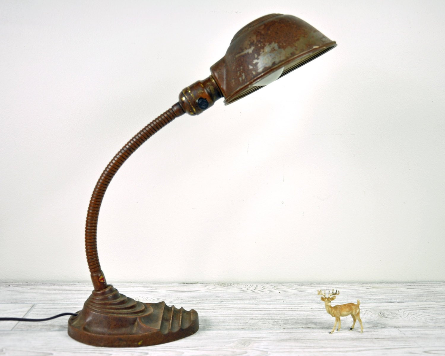 Best ideas about Rustic Desk Lamp . Save or Pin Vintage Rustic Industrial Desk Lamp Industrial Decor Now.