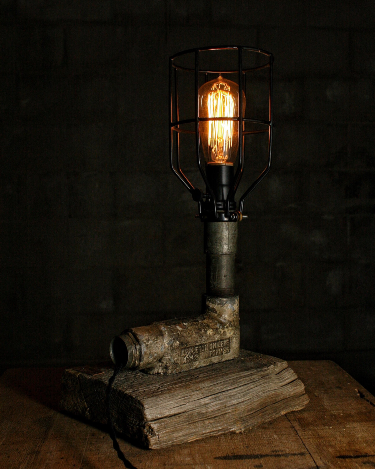 Best ideas about Rustic Desk Lamp . Save or Pin Rustic Pipe Lamp Desk Lamp Table Lamp Industrial Lamp Now.