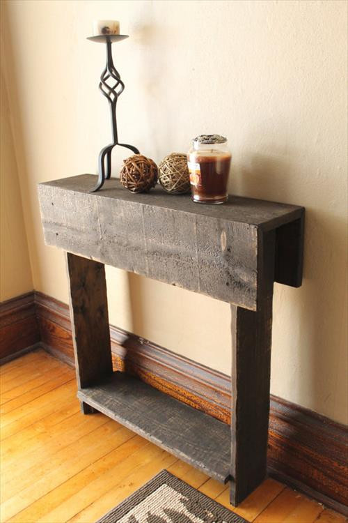 Best ideas about Rustic Entryway Table . Save or Pin Entryway Table make out from Rustic Pallet Now.