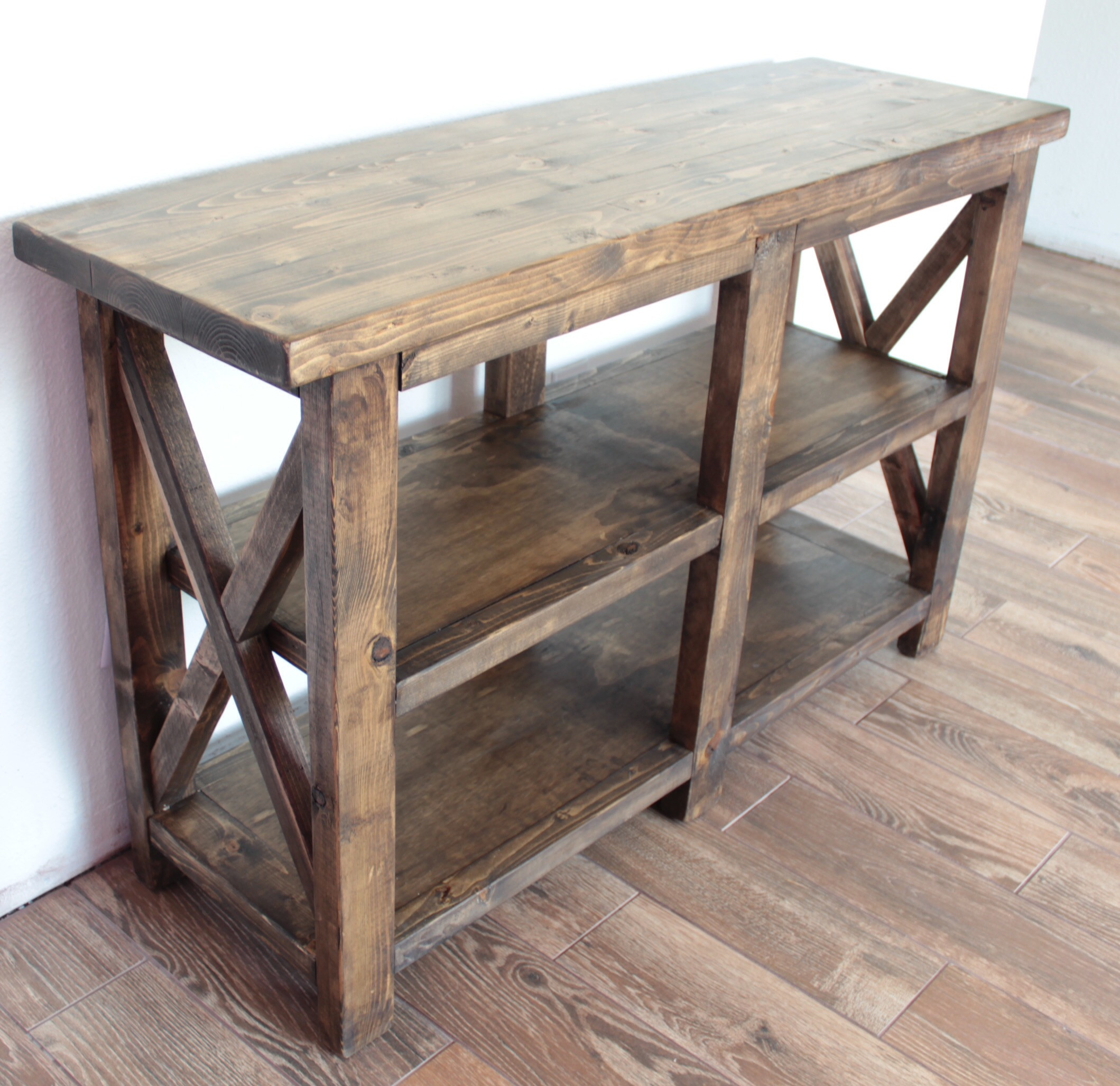 Best ideas about Rustic Entryway Table . Save or Pin Ana White Now.