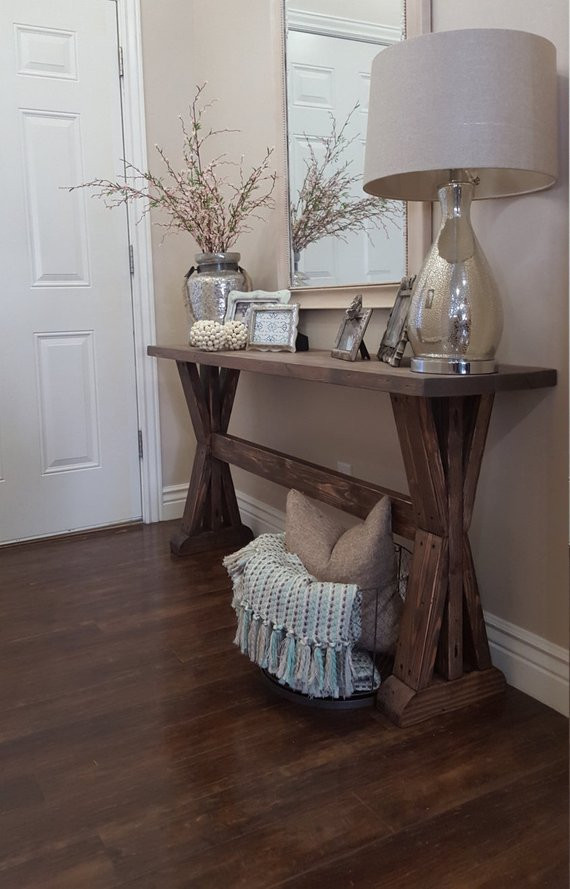 Best ideas about Rustic Entryway Table . Save or Pin rustic farmhouse entryway table Now.