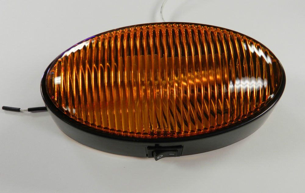Best ideas about Rv Porch Light . Save or Pin 12 volt RV Porch Light oval AMBER lens camper RV trailer Now.