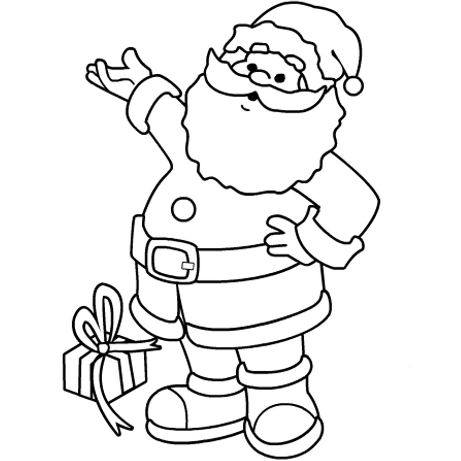 Santa Claus Coloring Pages For Kids  Christmas Coloring Page SANTA Coloring Home