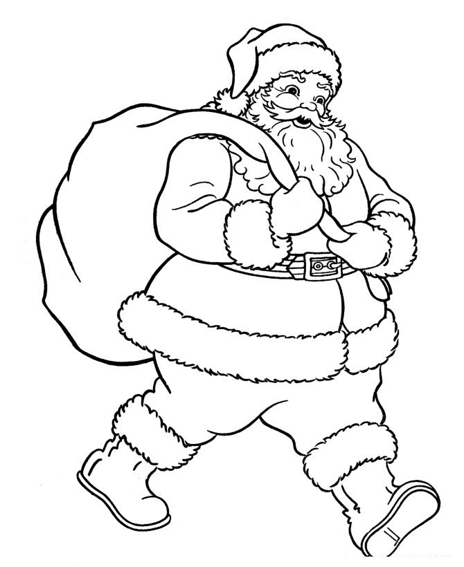 Santa Claus Coloring Pages For Kids  Free Printable Santa Claus Coloring Pages For Kids