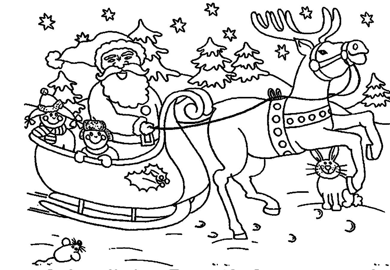 Santa Claus Coloring Pages For Kids  santa claus clipart coloring pages Clipground