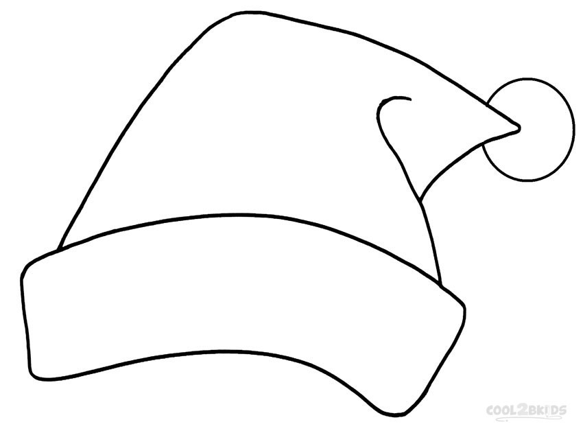 Santa Hat Coloring Pages  Printable Santa Hat Coloring Pages For Kids