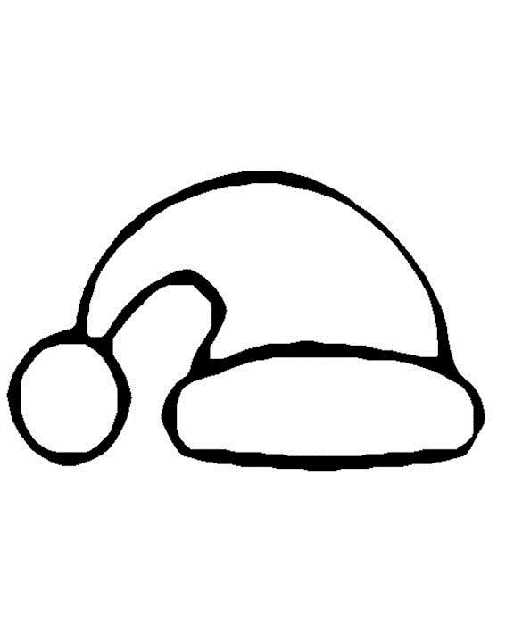 Santa Hat Coloring Pages  Free Printable Santa Hat Coloring Pages For Kids