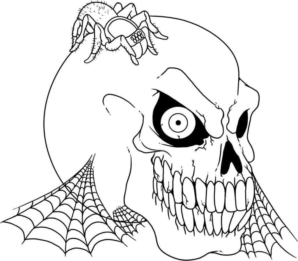 Scary Halloween Coloring Pages For Adults  Halloween Coloring Pages Free Printable Scary Coloring Home