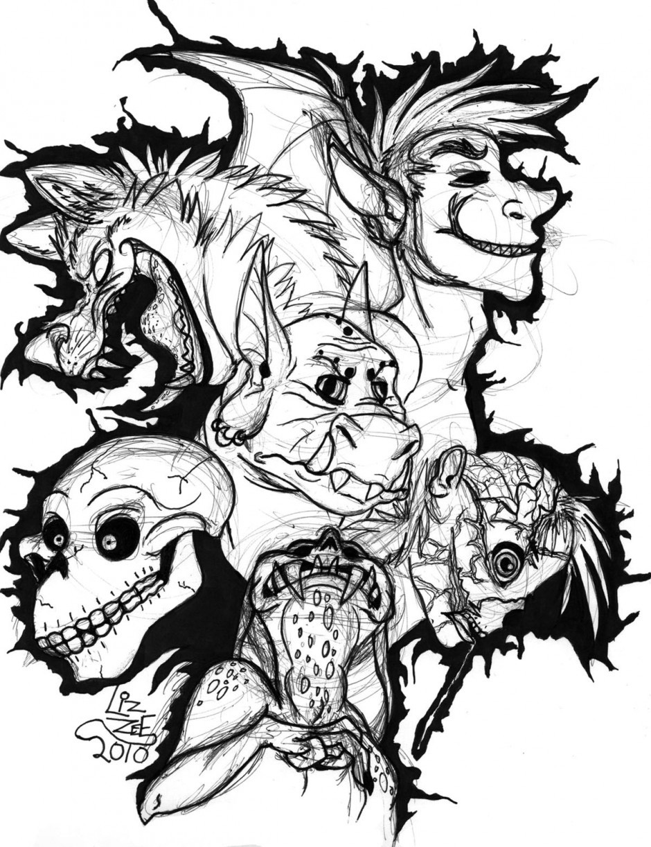 Scary Halloween Coloring Pages For Adults  Scary Coloring Pages coloringsuite