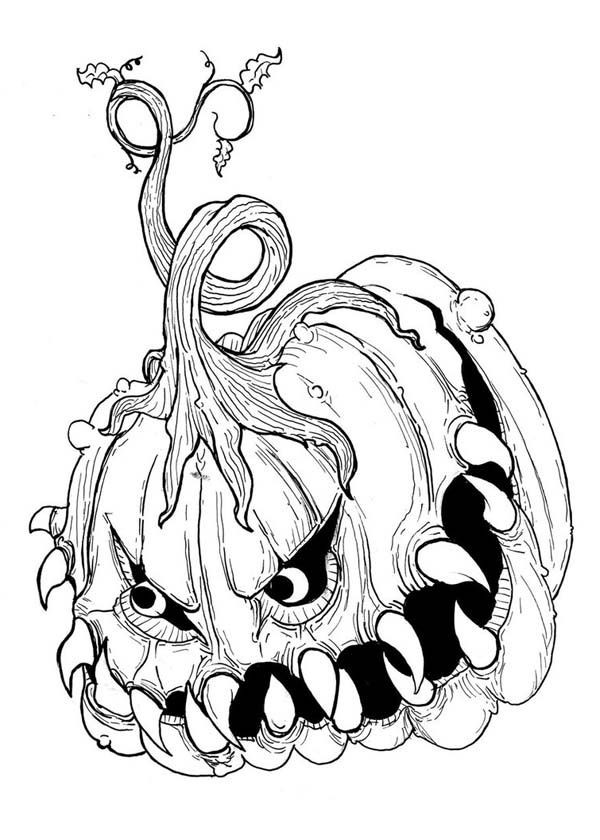 Scary Halloween Coloring Pages For Adults  Scary Halloween Coloring Page Coloring Home