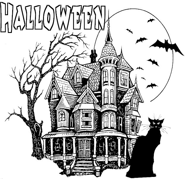 Scary Halloween Coloring Pages For Adults  HALLOWEEN COLORINGS