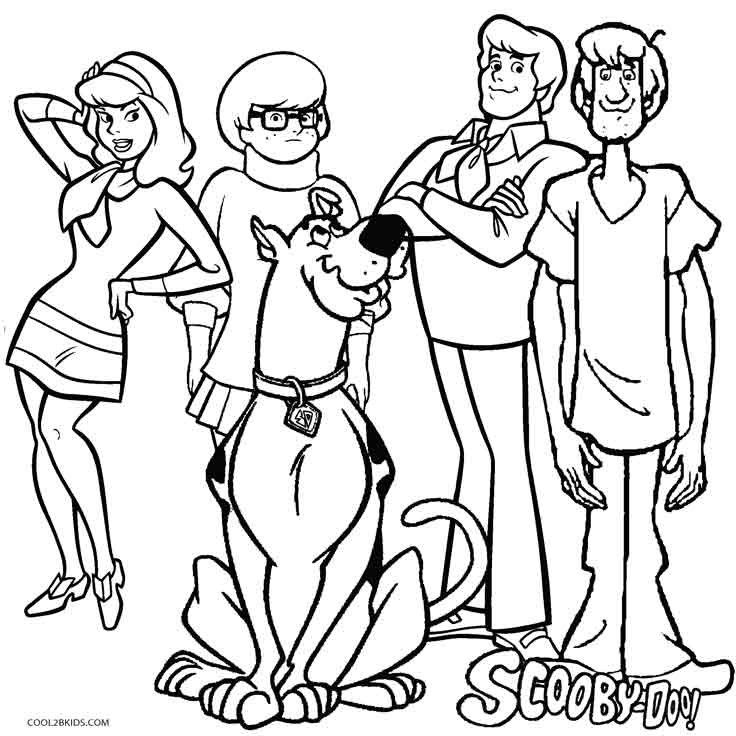 Scoby Doo Coloring Pages  Printable Scooby Doo Coloring Pages For Kids