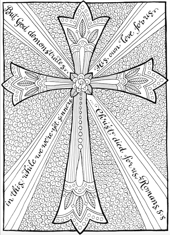 Scripture Coloring Pages For Adults  Free Christian Coloring Pages for Adults Roundup