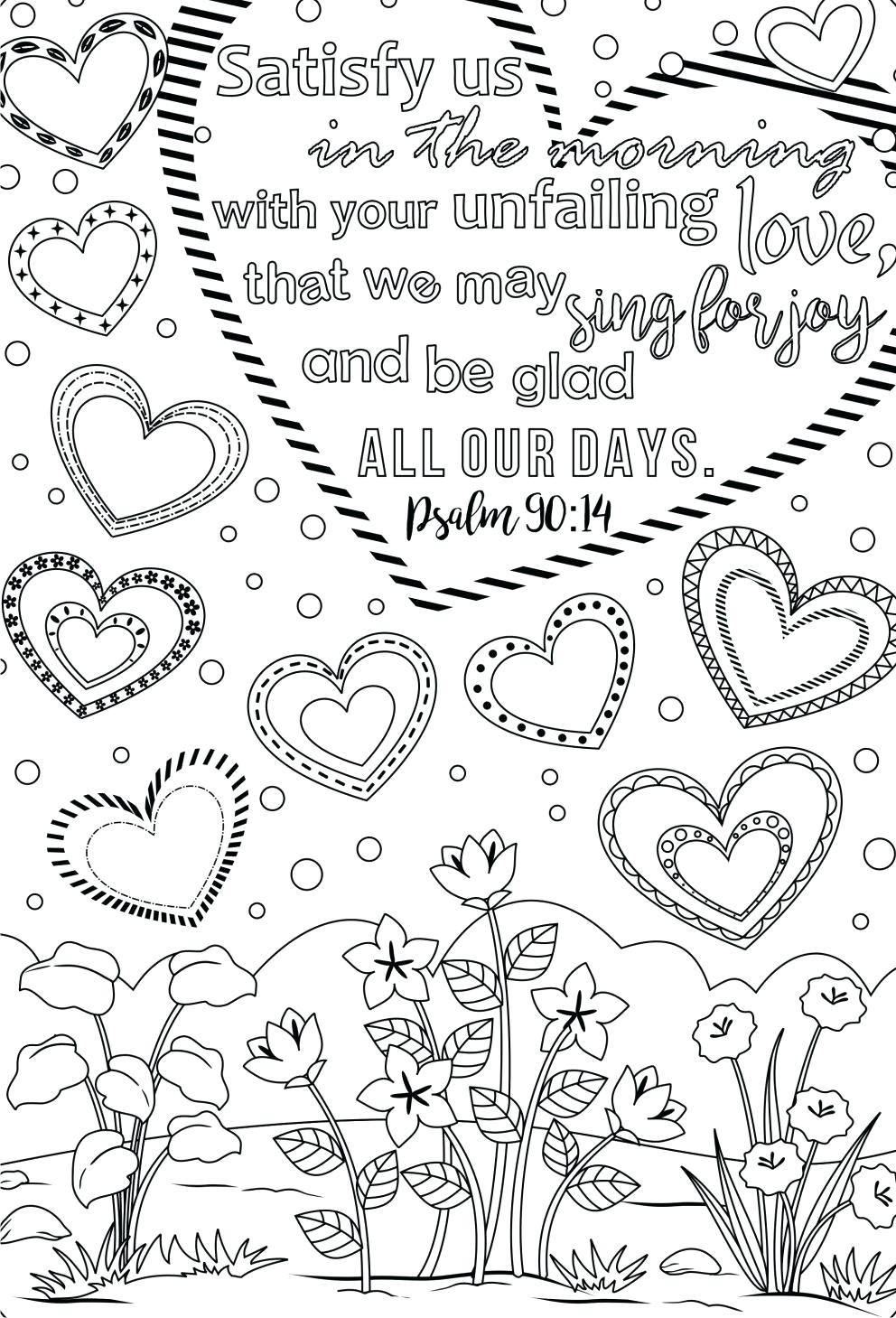 Scripture Coloring Pages For Adults  printable Inspirational Bible Verses Printable