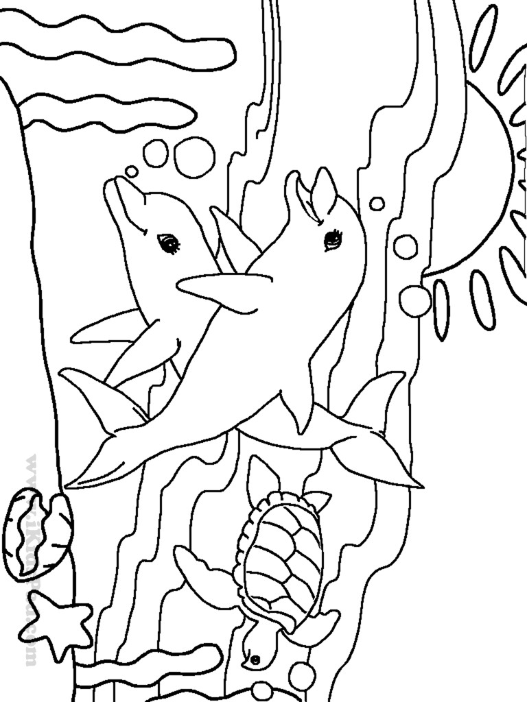 Sea Creature Coloring Pages  cute ocean animal coloring pages