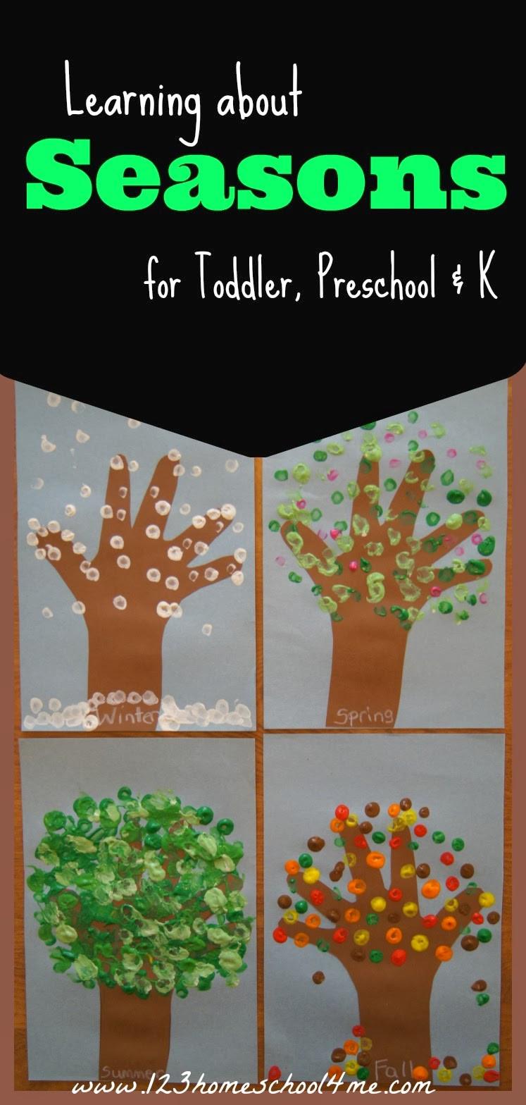 Season Crafts For Preschoolers  FREE Printable Seasons Activities