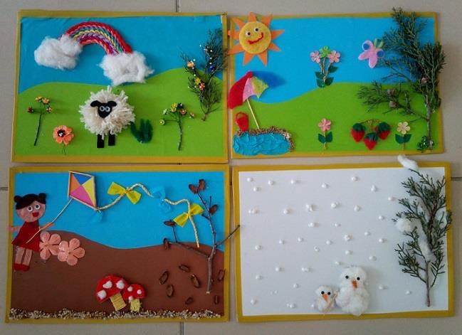 Season Crafts For Preschoolers  preschool season craft funnycrafts