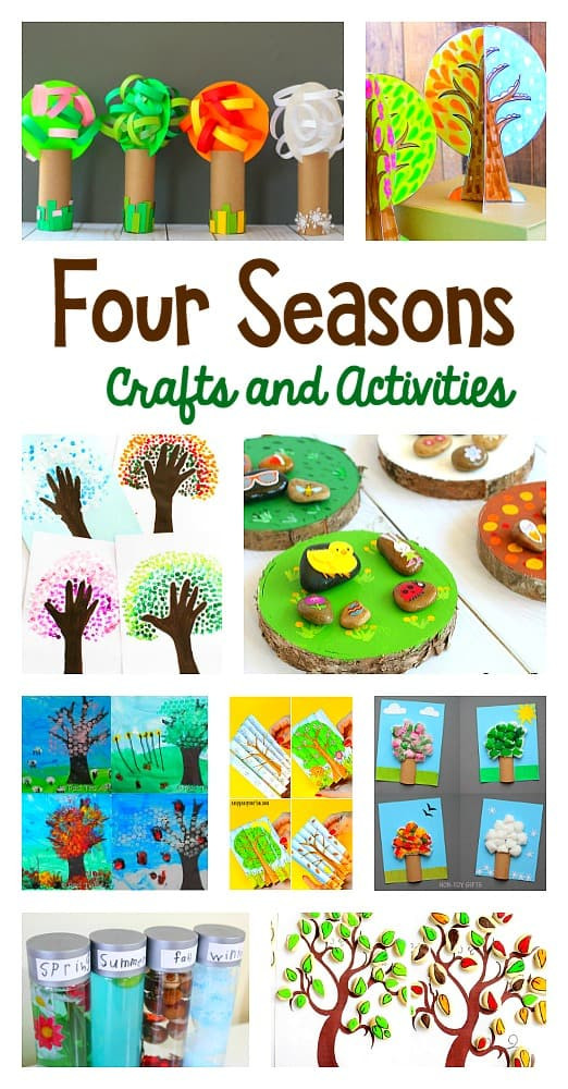 Season Crafts For Preschoolers  15 of the Cutest Four Seasons Crafts and Activities for