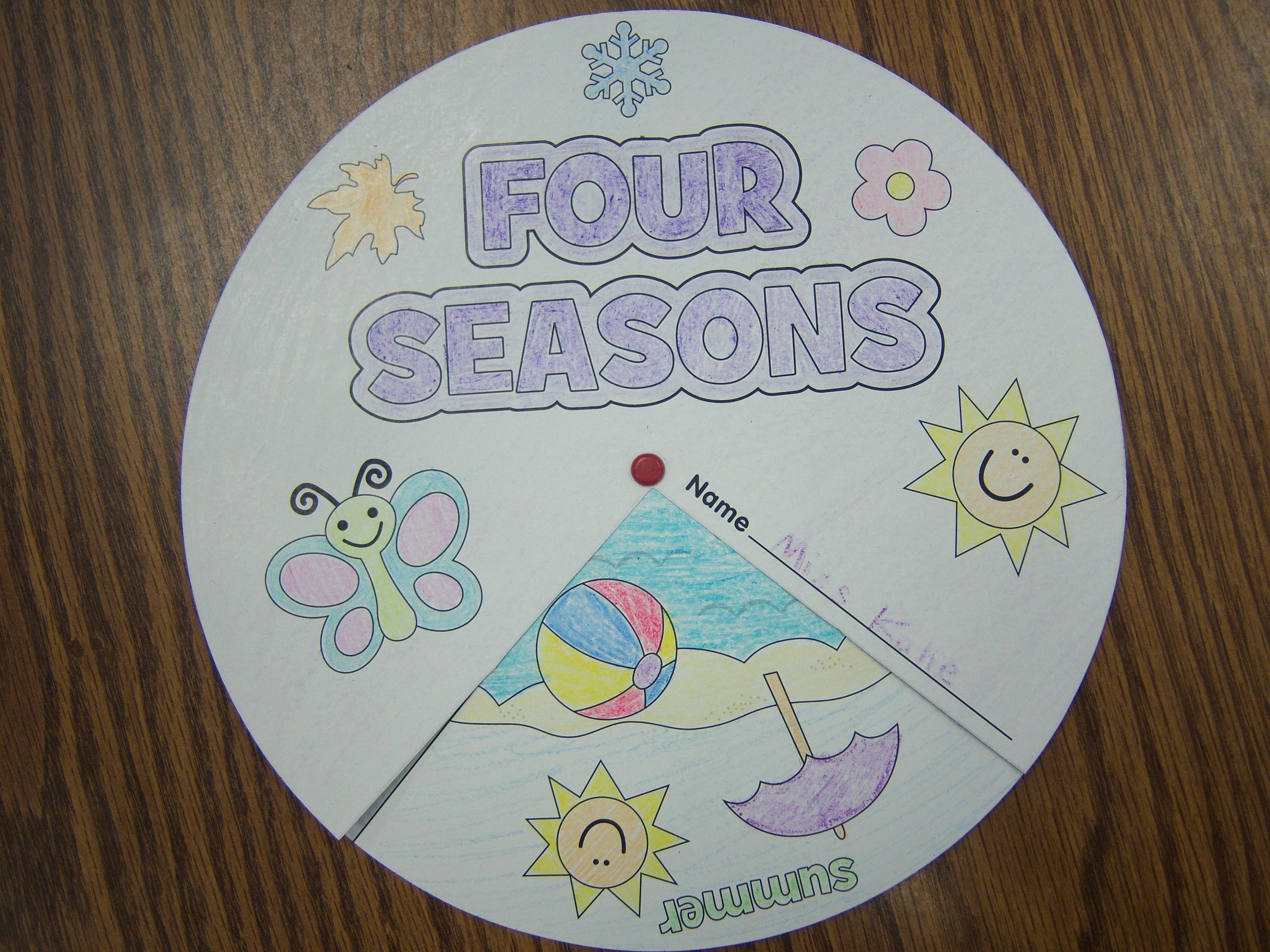 Season Crafts For Preschoolers  Seasons – storytime katie
