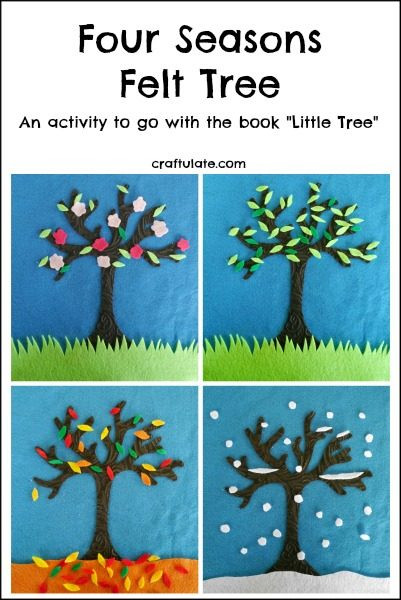 Season Crafts For Preschoolers  Four Seasons Felt Tree Craftulate