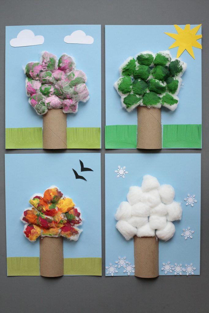 Season Crafts For Preschoolers  Four Season Tree